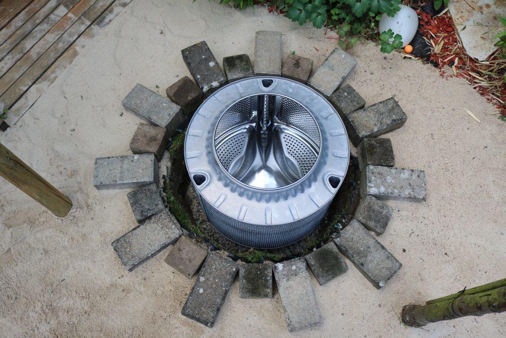 Diy Wie Man Aus Einer Waschmaschinentrommel Eine Feuerstelle Baut Upcycling Garten Quadratverliebt